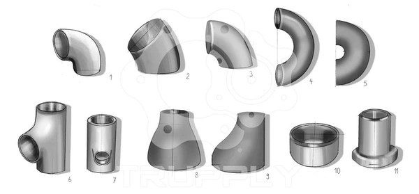 Butt Weld Buttweld Pipe Fitting Elbow Reducer Tee