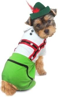Oktoberfest Bavarian Lederhosen Boy Costume for dogs ...