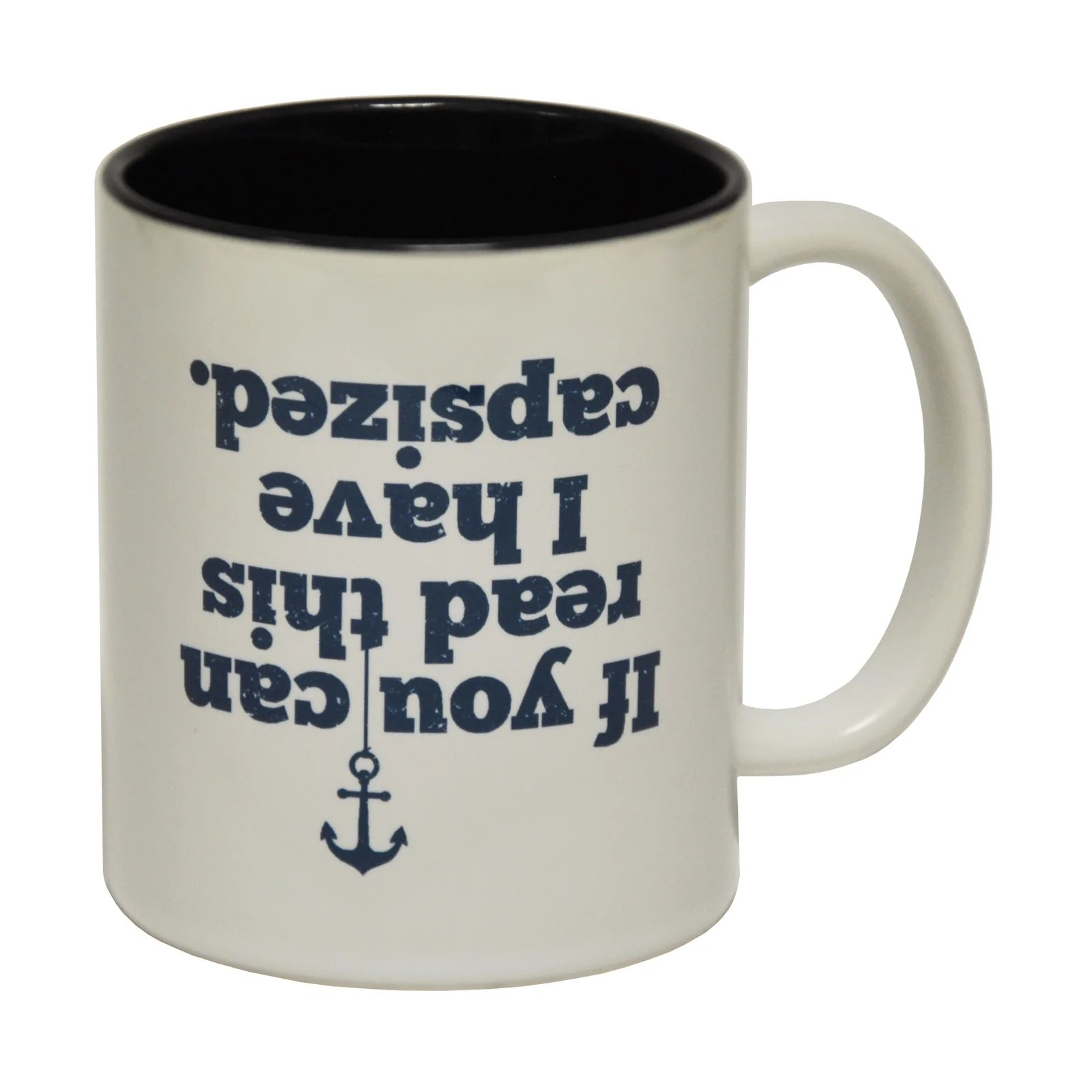 Weird Mugs Funny Sailing Gift Mugs Capsized Coffee Mug Novelty