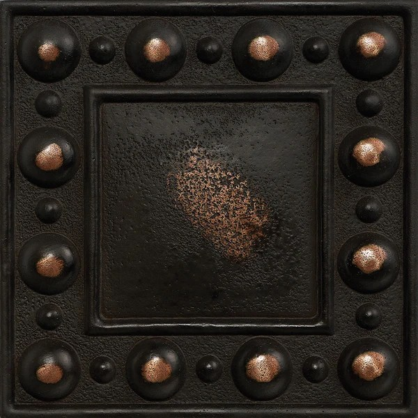 Metal Wall Covering 4 X 4 Dots Decorative Metal Insert - Antique Bronze – Deko