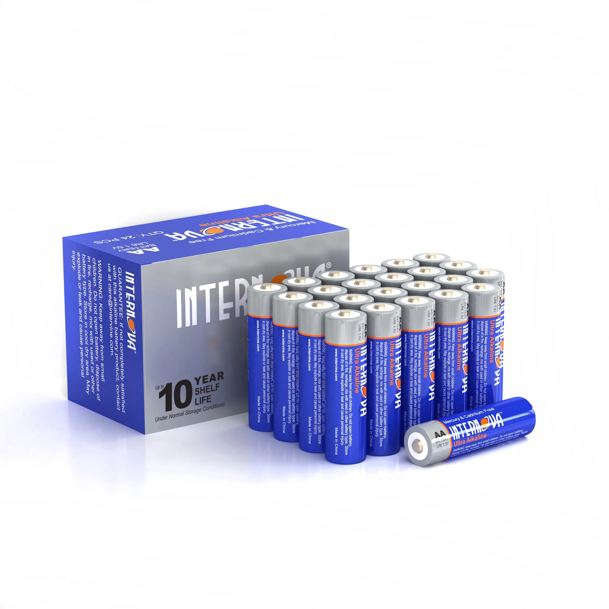 Batterie Aa Internova Ultra Alkaline Aa Batteries Double A Lr6 1 5v Cell High Performance 24 Pack