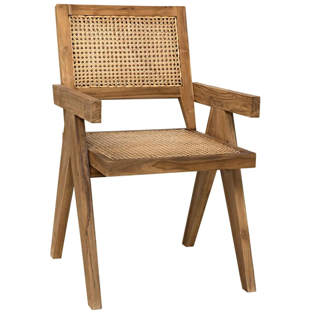 Noir Furniture Jude Chair Teak With Caning