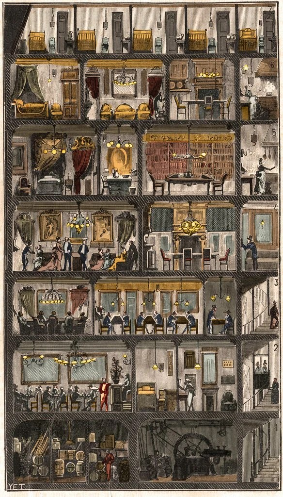 Xxxl Poster Cross-section Of A Parisian House 1885 Posters & Prints By