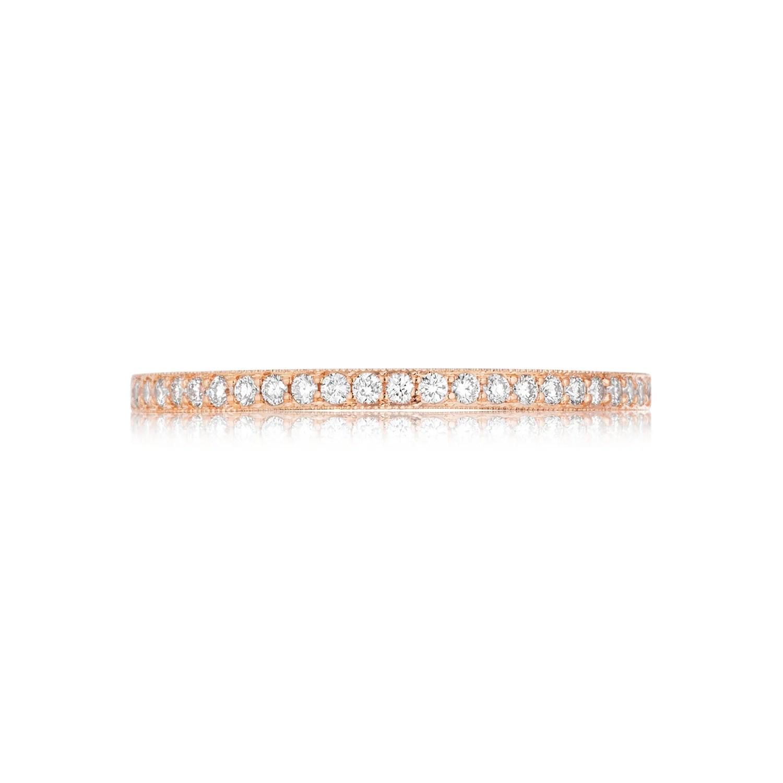 tacori diamond wedding band dsmtr pink diamond wedding band Tacori Pretty in Pink Diamond Wedding Band