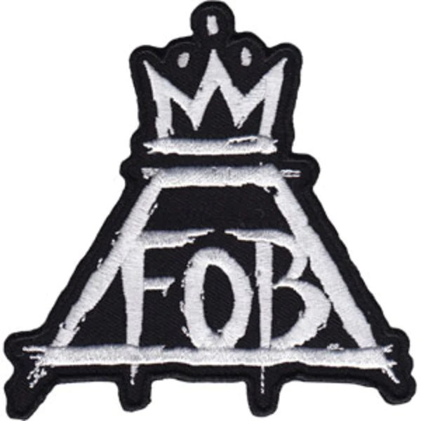 Fall Out Boy Wallpaper Phone Fall Out Boy Iron On Patch Crown Fob Logo Rock Band Patches