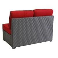 3 Piece Outdoor Wicker Sectional Sofa Patio Furniture Set ...