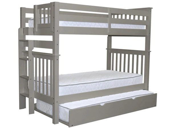 Bunk Beds Tall Twin Gray Trundle 549 Bunk Bed King
