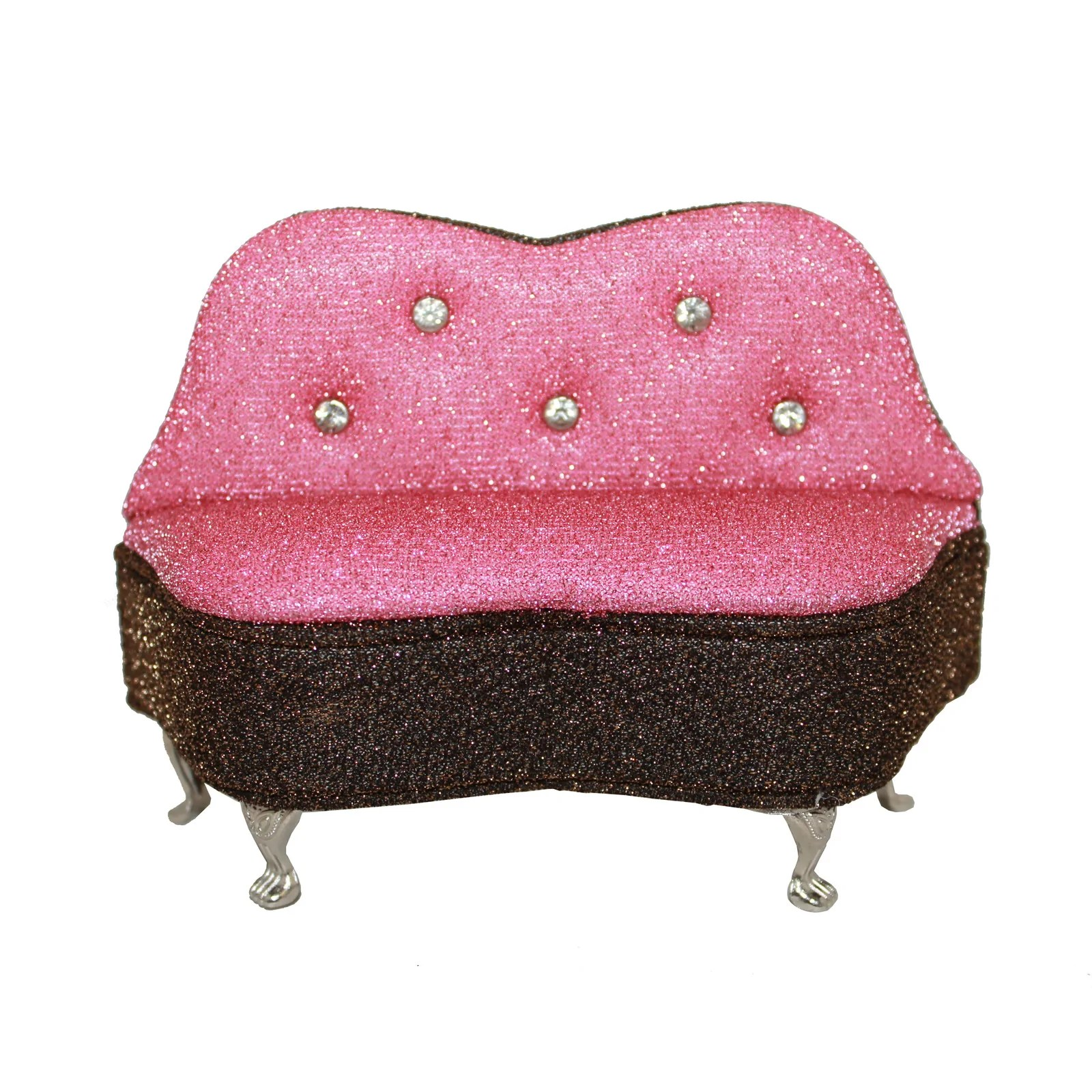 Mini Couch Pink Mini Couch With Rhinestones Jewelry Box