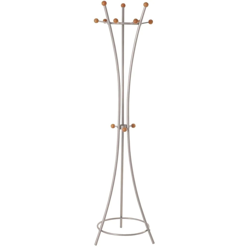 Freedom Coat Stand Modern Helix Metal Coat Stand In Aluminium Wood Finish