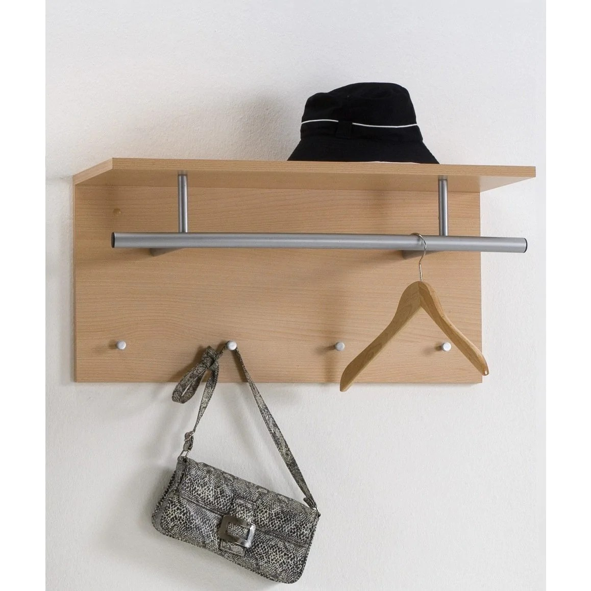 Hat Stand Freedom Wall Mounted Coat Stand Hat Rack Shelf Rail Hooks