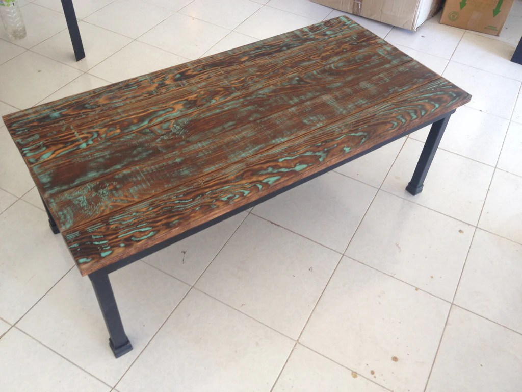 Beautiful Coffee Table Rustic Industrial Coffee Table With Distressed Wood
