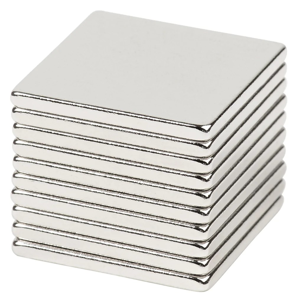 4 X 3 Bykes 10 Neodymium Super Strong Extremely Powerful Rare Earth Refrigerator Magnets 3 4 X 3 4 X 1 16 Inch Disc N48