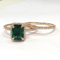 Small Of Emerald Engagement Rings