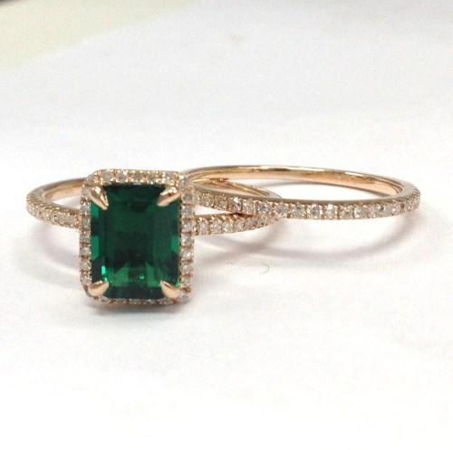 Medium Of Emerald Engagement Rings