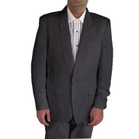 Men's Shawl Collar Tuxedo Dinner Jacket, Poly/Wool (Black ...