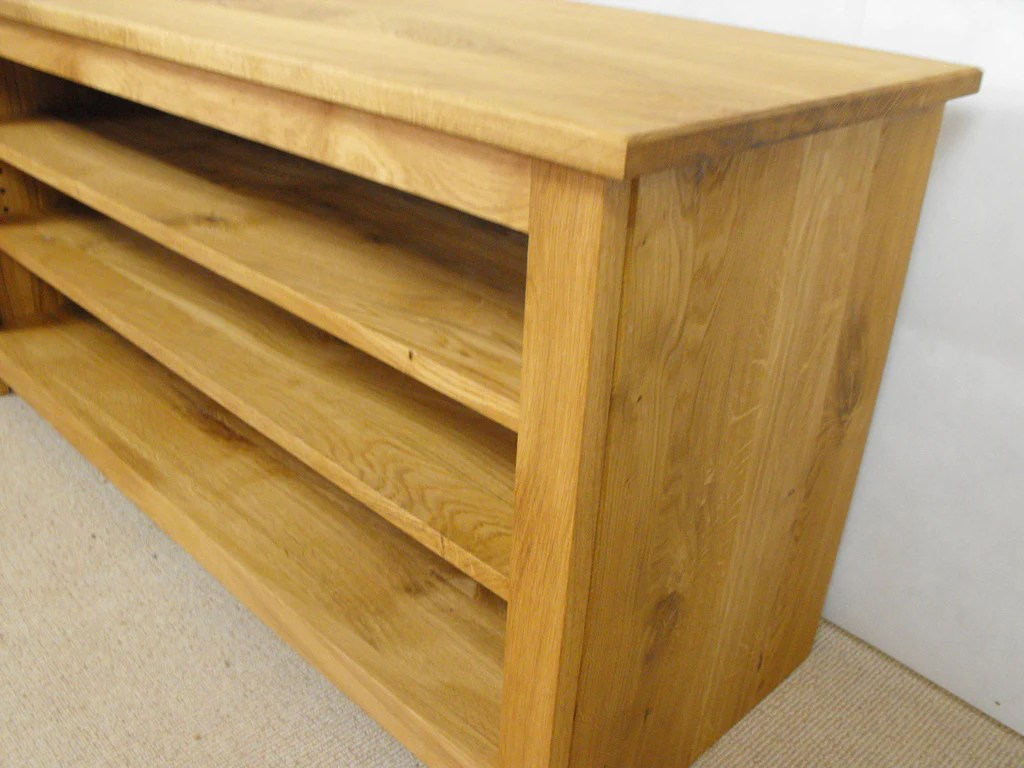 Hifi Rack Oak 600mm Solid Oak Tv Unit Cabinet Stand Or Hifi Unit
