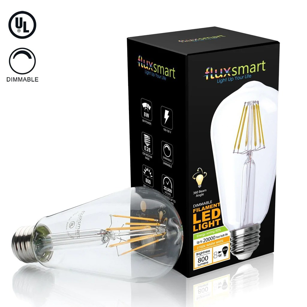 Vintage 8 Dimmable Edison Style Vintage Led Filament Light Bulb 8 Watt