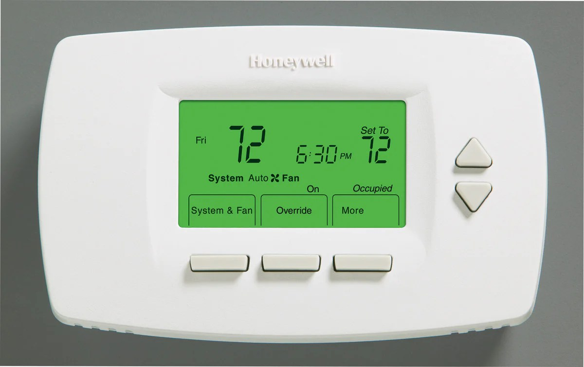 Honeywell Programmable Thermostat Honeywell Tb7100a1000 Multi Pro 7000 Multispeed And Multipurpose Programmable Non Programmable Thermostat