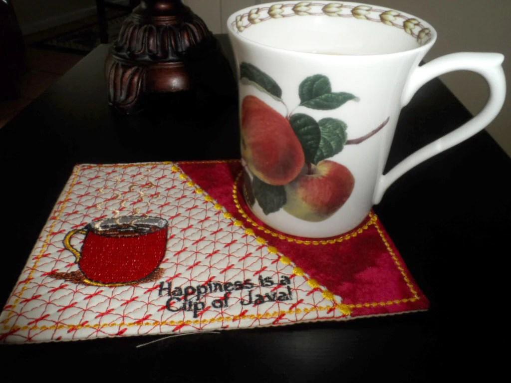 Cup Of Java And Cup Of Hot Chocolate Mug Mat Mug Rug In