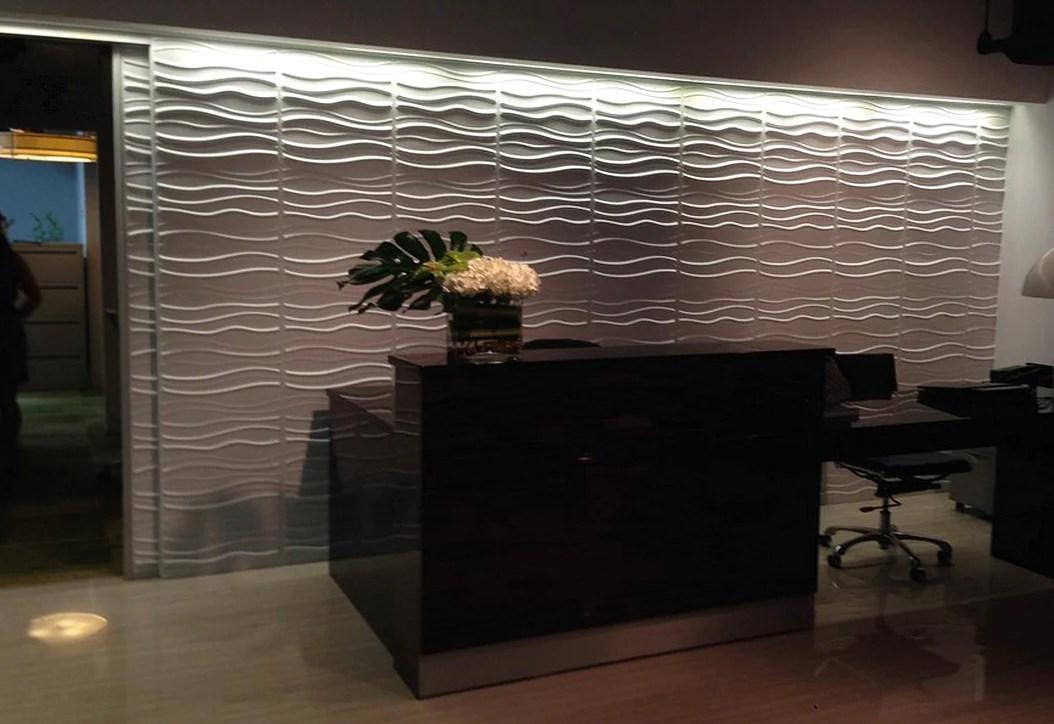 3d Office Wallpaper Inhabit Wall Flat 3d Wall Panels Installation Gallery