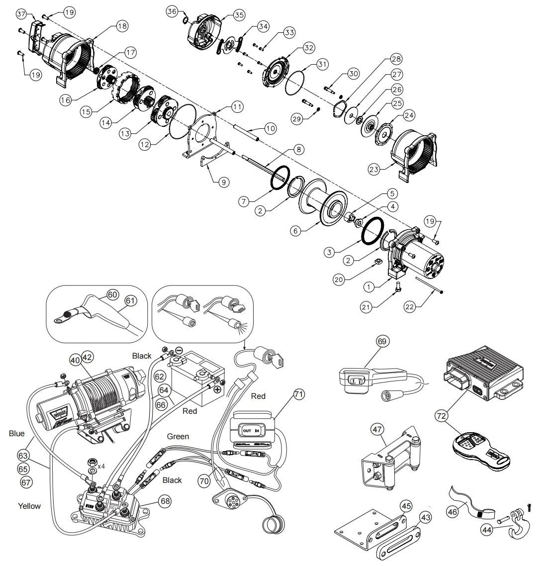 atv warn winch a2000 wiring upgrade diagram auto electrical wiring warn 15000 winch wiring diagram