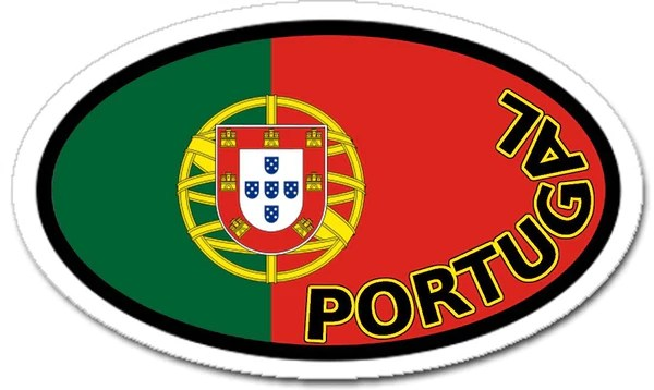 Portugal vinyl sticker oval for cars any surface lands amp people