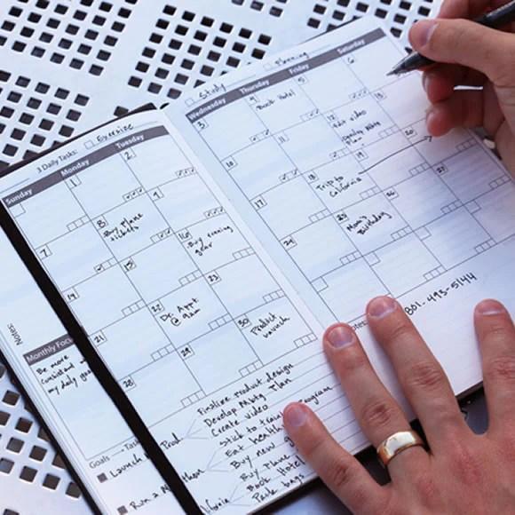 monthly calendar notebook
