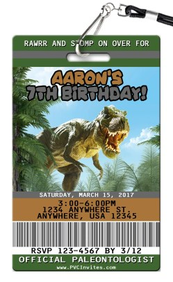 Small Of Dinosaur Birthday Invitations