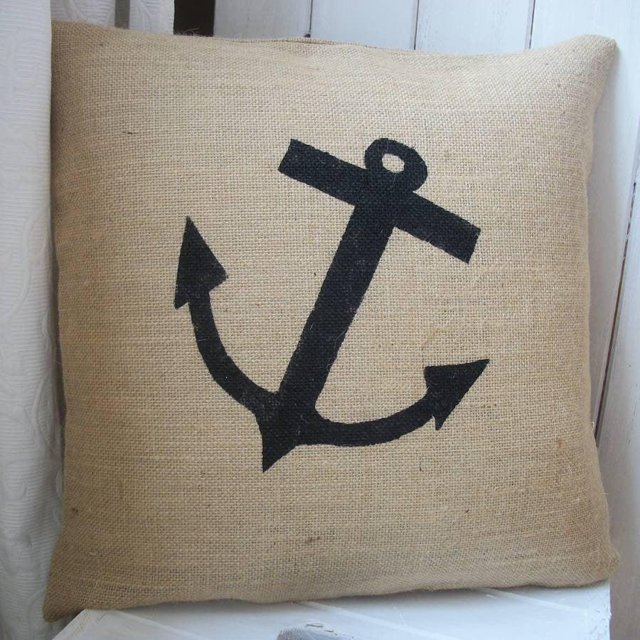 Anchor hessian cushion