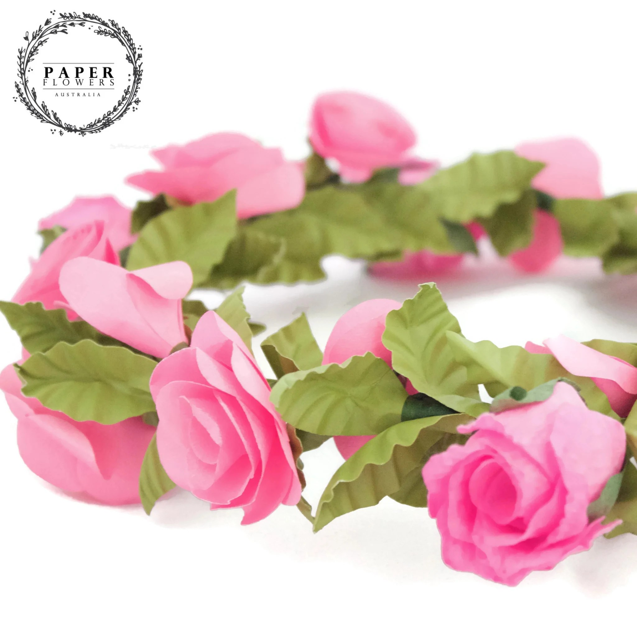 Pink Flowers Australia Childs Flower Crown Hot Pink Paper Flowers Australia