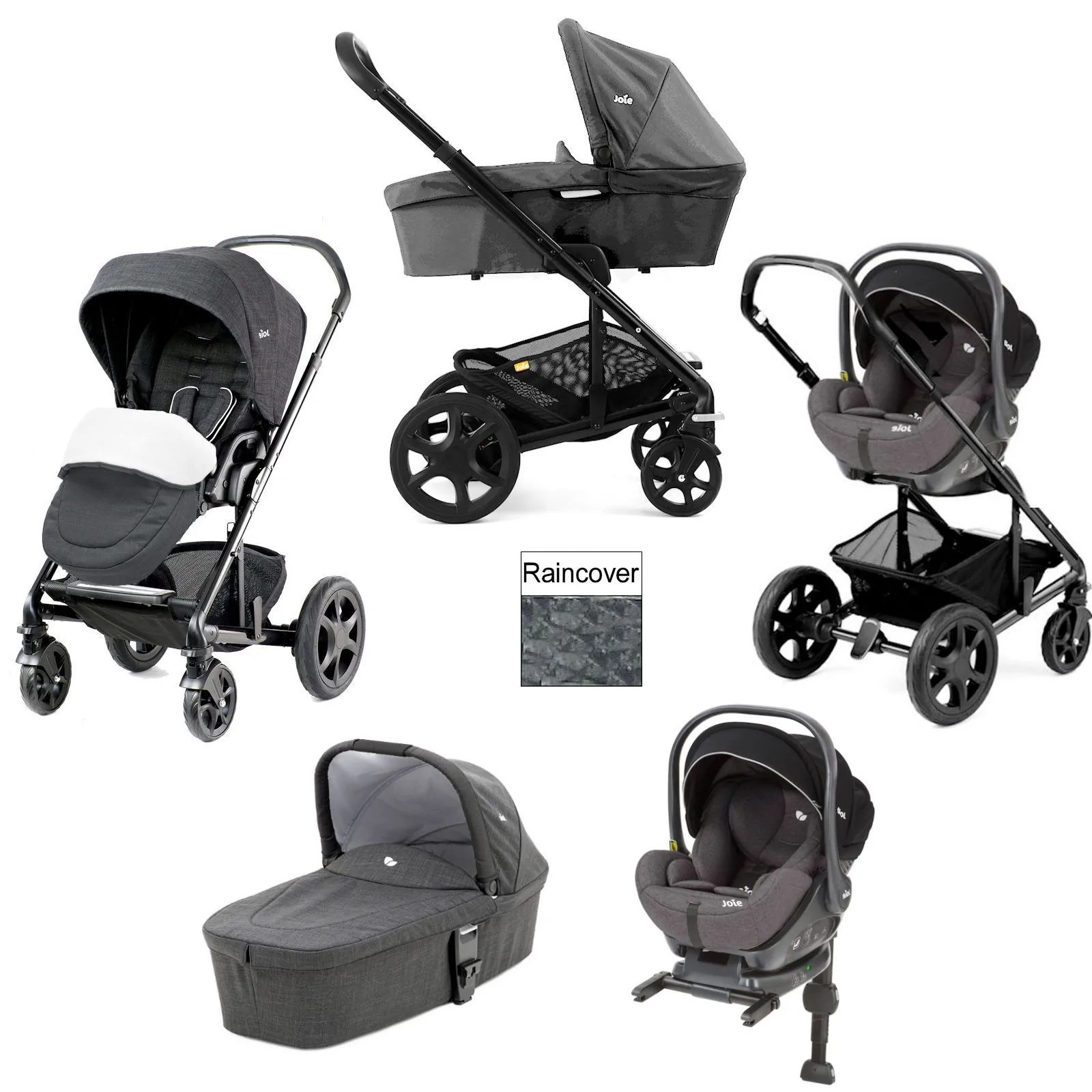 Joie Isofix Base Uk Joie Chrome Dlx I Level Travel System With Carrycot Inc