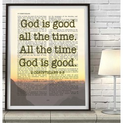 Small Crop Of God Is Good Bible Verse