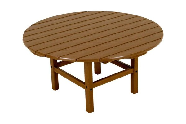 Polywood Rct38te Round 38quot Conversation Table In Teak