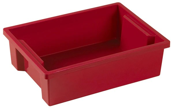 Ecr4kids Elr 0724 Rd Small Storage Bin Without Lid Red