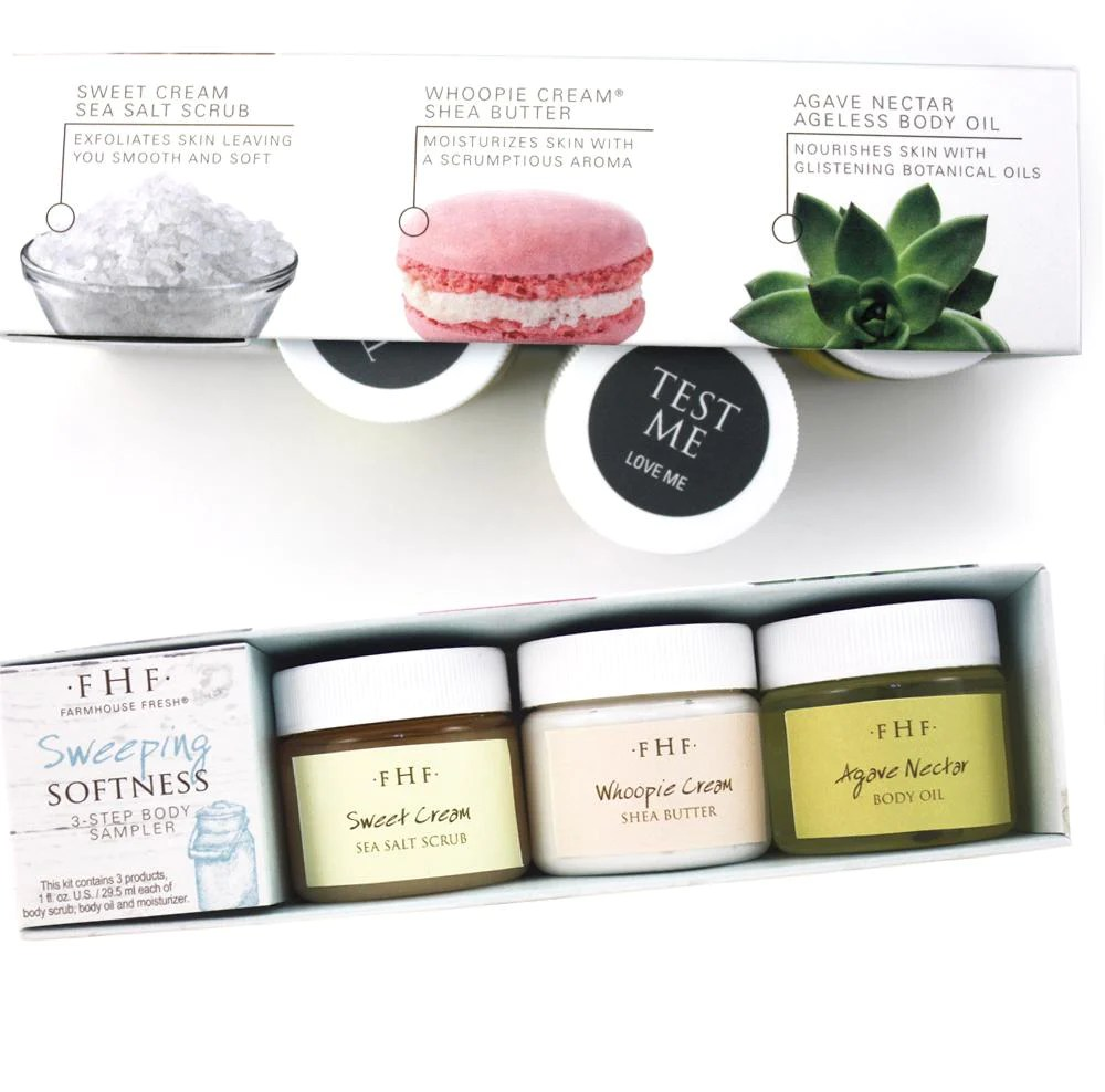 Farmhouse Fresh Body Products Sweeping Softness 3 Step Body Sampler By Farmhouse Fresh