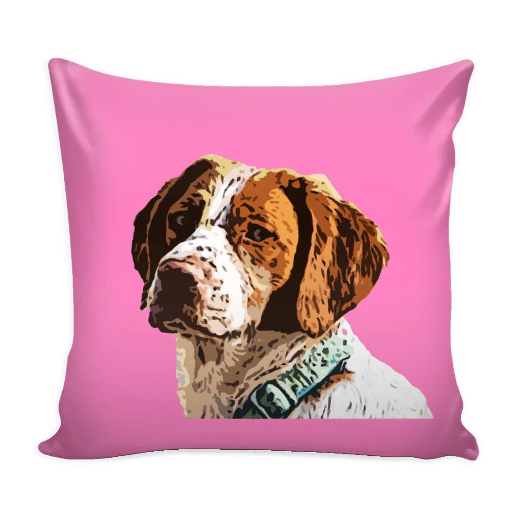 Brittany Spaniel Dog Pillow Cover Brittany Spaniel