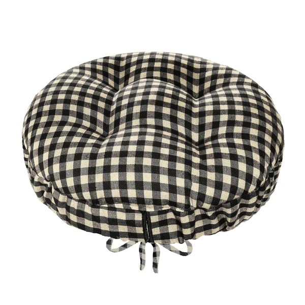 Wholesale Vendors For Home Decor Checkers Black White Bar Stool Cover With Cushion And