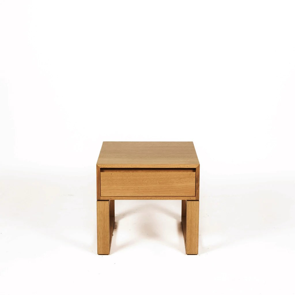 Solid Timber Coffee Table Tribeca Solid Timber Australian Made Loop Leg Bedside Table