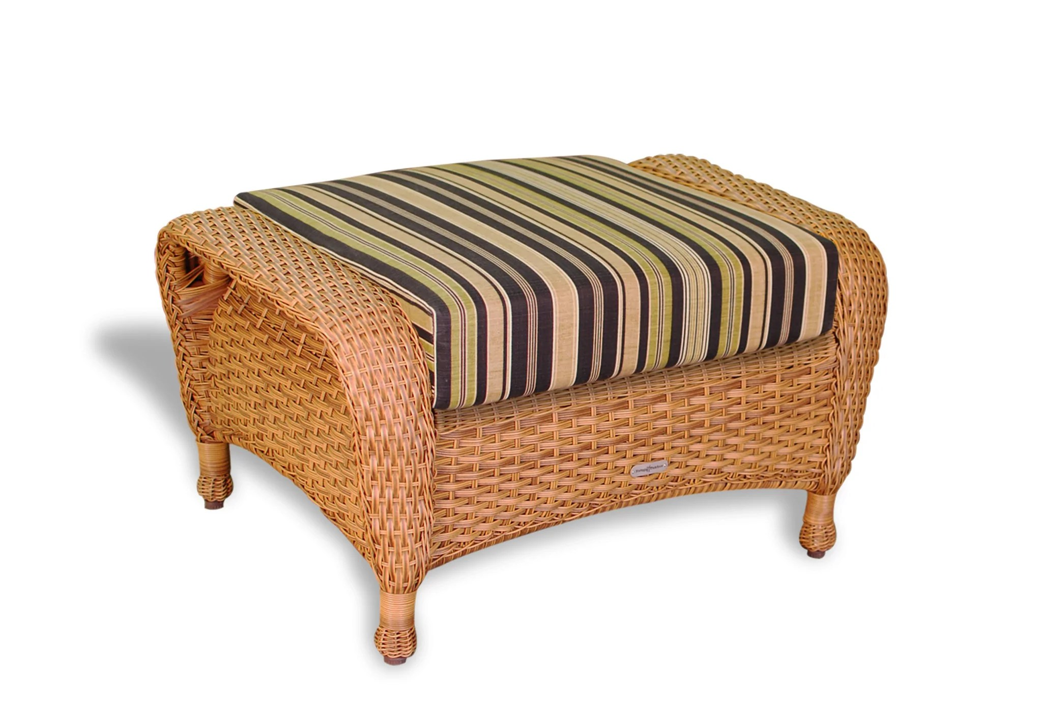 Wicker Ottoman The Sea Pines All Weather Wicker Ottoman Tortuga Outdoor
