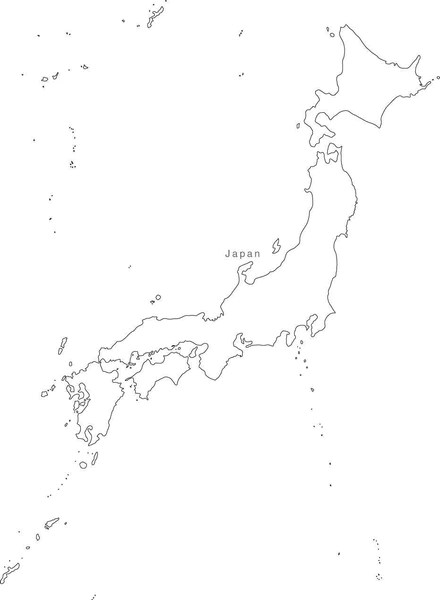 continent map black and white