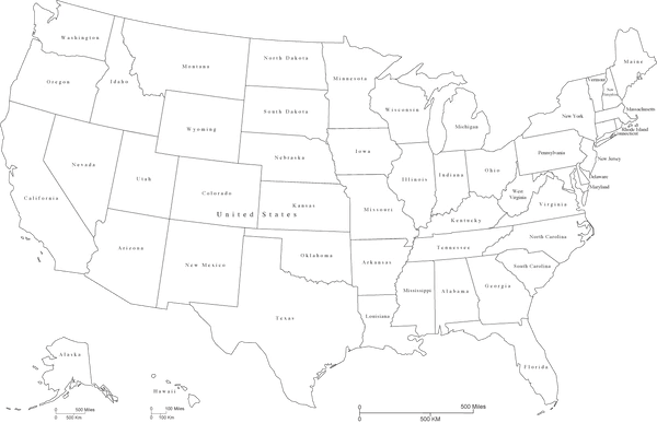 free editable map of united states