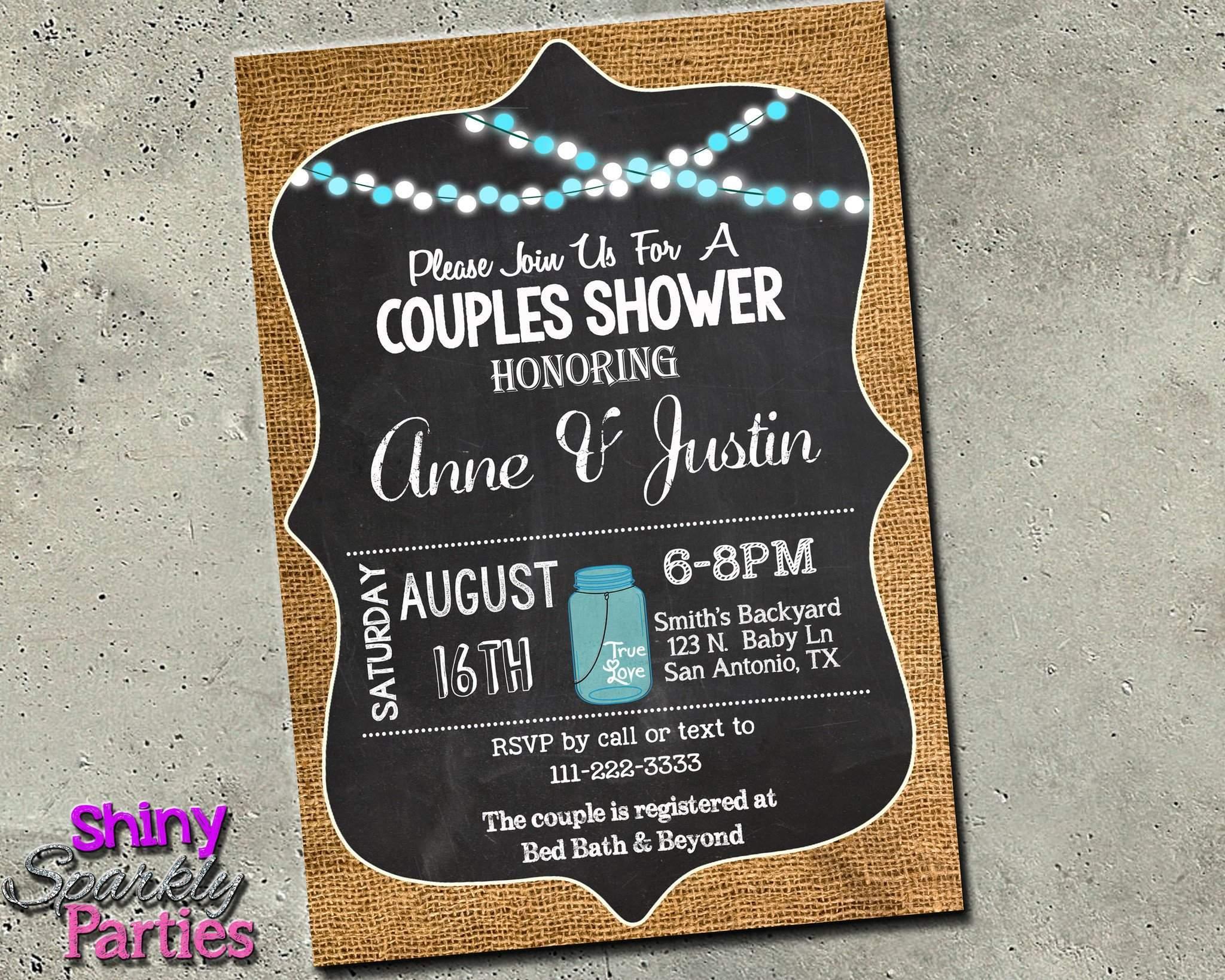Fullsize Of Couples Shower Invitations