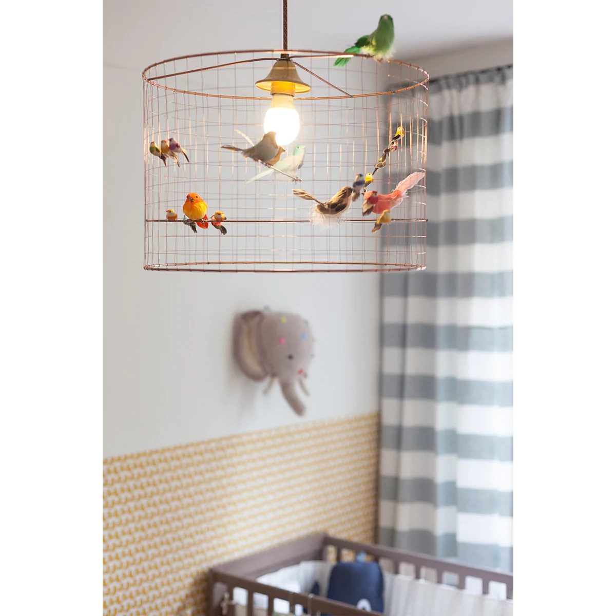 Suspension Voliere Challières Small Volière Bird Cage Suspension Lamp Petit Bazaar