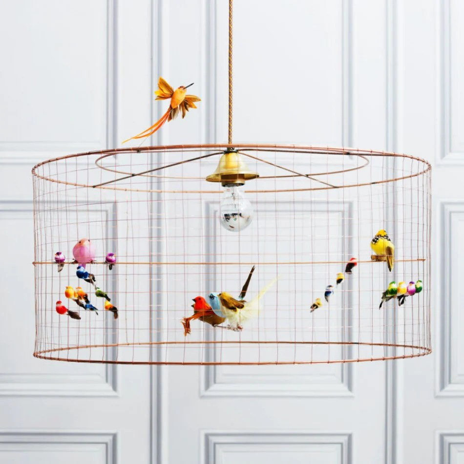 Suspension Voliere Challières Demi Volière Bird Cage Suspension Lamp Petit Bazaar