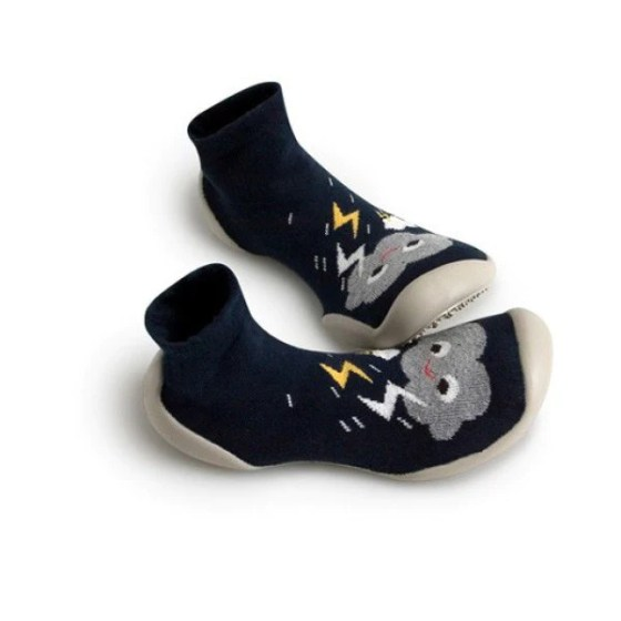 Collegien smiley clouds phospho slippers