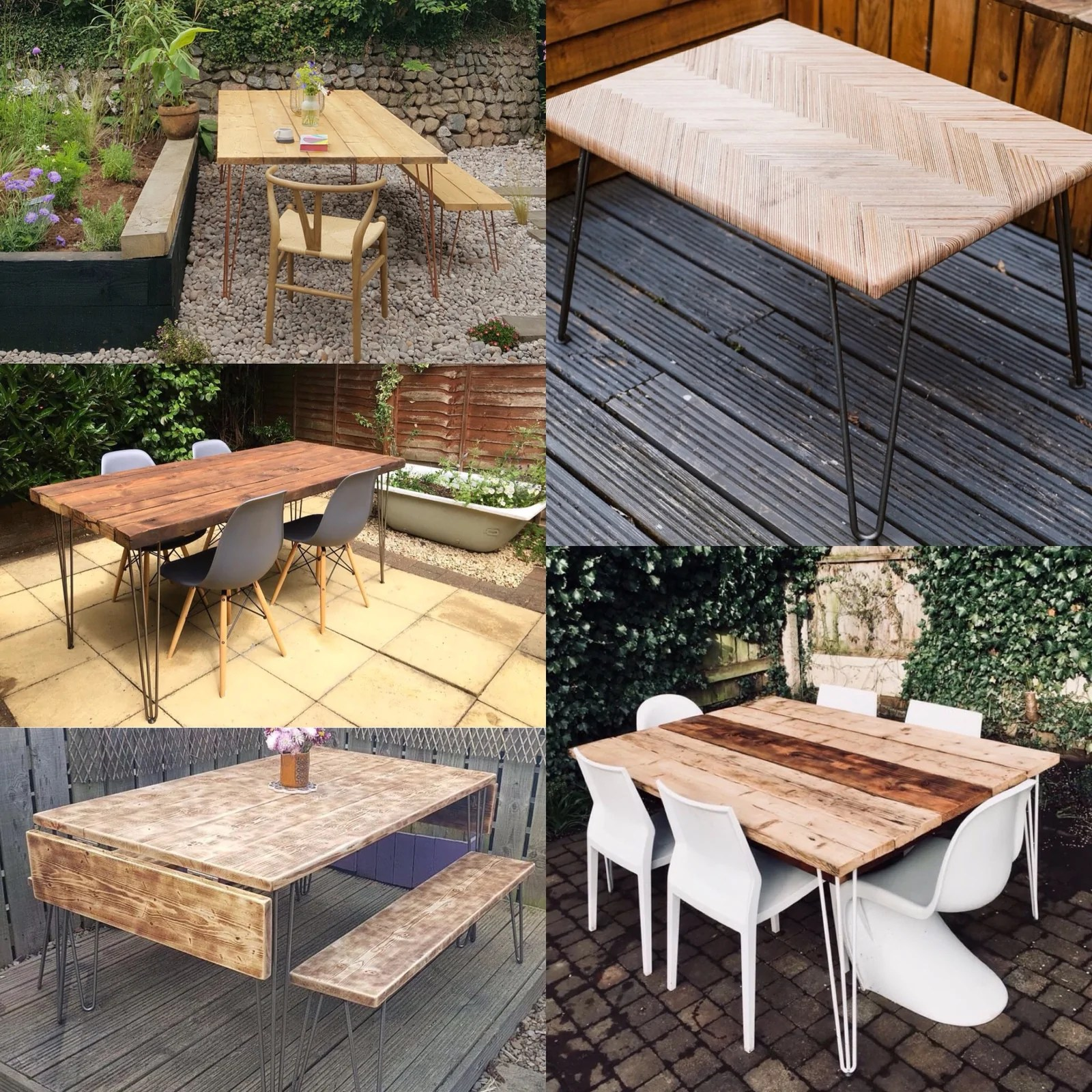 Make Your Own Diy Table Outdoor Table The Hairpin Leg Co