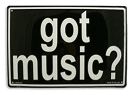 Got Music Sign Strum Hollow Music