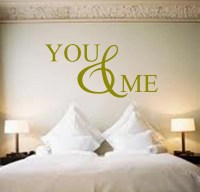 You and Me Vinyl Wall Art Quote Decal Sticker Love Bedroom ...