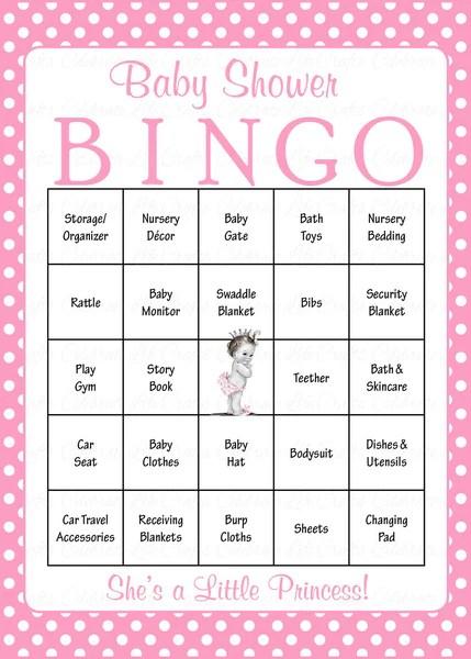 baby bingo template