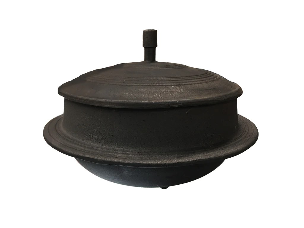Korean Cast Iron Traditional Cooking Pot With Lid Gamasot